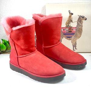 Ugg Classic cuff shirt lipstick red boot